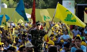 Hezbollah supporters rally in Lebanon's Bekaa valley