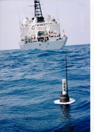 International Argo Program – Photograph of an Argo float used to  measure ocean temperature and salinity
