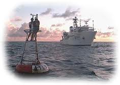 NOAA photograph of a TAO mooring