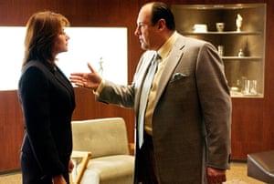 James Gandolfini Dies: Gandolfini as Tony Soprano with Lorraine Bracco as his psychiatrist in 1999
