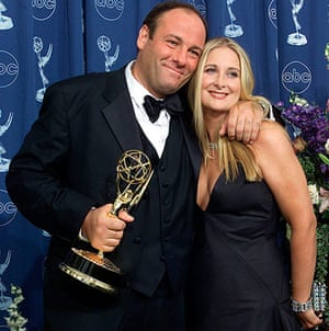 James Gandolfini Dies: James Gandolfini with  his wife Marcy 2000