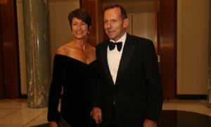 The Leader of the Opposition Tony Abbott with his wife Margie at the midwinter ball in the Great Hall. The Global Mail.