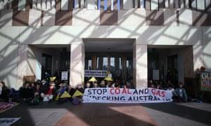 Anti CSG demonstrators. The Global Mail.