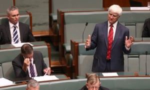 The Independent member for Kennedy Bob Katter after question time in the House of Representatives. The Global Mail.
