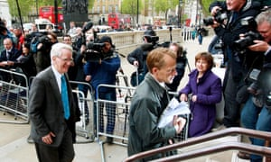 Andrew Stunell (left) and David Laws arriving at the Cabinet Office in May 2010 for coalition talks.