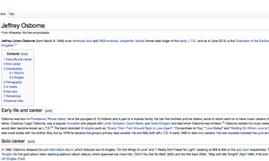 Jeffrey Osborne's Wikipedia page
