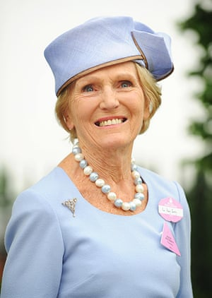 Ladies day at Ascot: Mary Berry