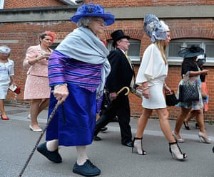 Ladies day at Ascot: Racegoers arrive for Ladies Day at the Royal Ascot
