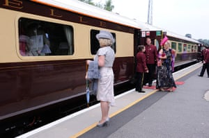 Ladies day at Ascot: A special charter train with Pullman carriages (known to rail officials as