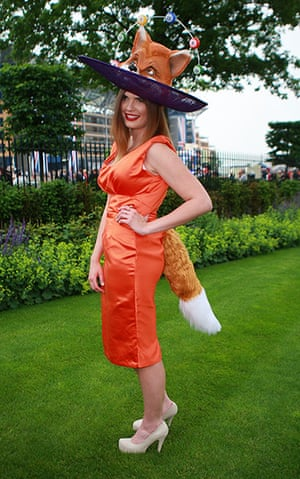 Ladies day at Ascot: Ladies in fox outfit