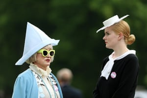 Ladies day at Ascot: Racegoers during day three of the Royal Ascot - Ladies day