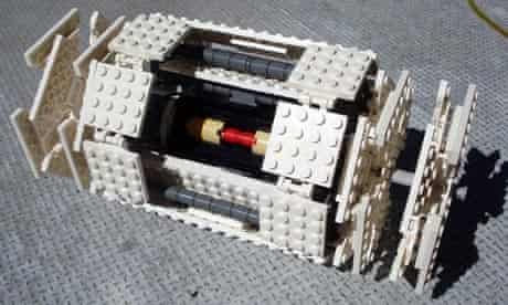 Lego model of the ATLAS particle detector at the LHC
