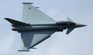 A Typhoon fighter jet