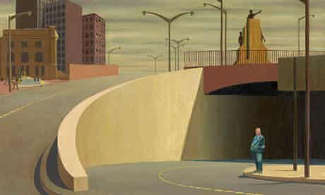 Jeffrey Smart's 1962 oil on canvas painting entitled Cahill Expressway