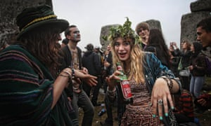 Apparently more than 20,000 people celebrated the Summer Solstice at Stonehenge this year. Photograph: Lewis Whyld/PA