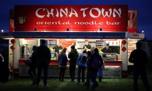 Slightly out of place? In case you are hungry for noodles while celebrating the Solstice caterers have pitched up near Amesbury, England.