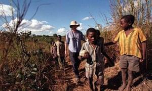 A Peace Corps volunteer in Malomo, Malawi