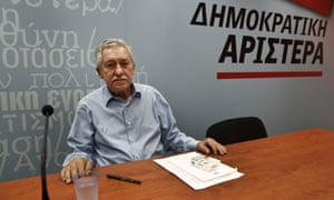 Leader of Democratic Left party Fotis Kouvelis, a junior partner in Greece's ruling coalition, wants to leave the the government after it shut down the state broadcaster