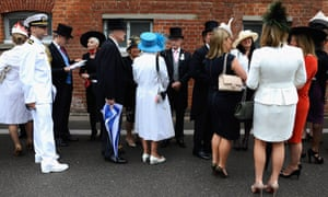 Racegoers wait for the gates to open on day four of Royal Ascot at Ascot Racecourse, England.