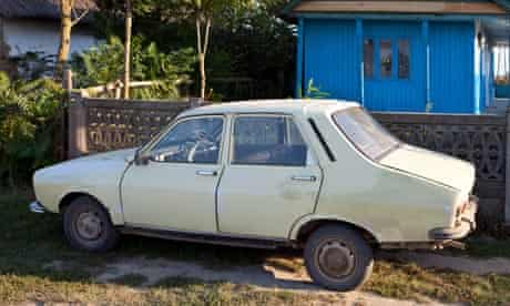 Dacia car in Romania