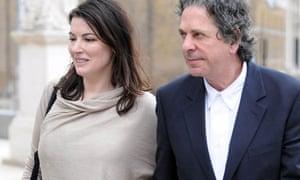 Nigella Lawson and Charles Saatchi visit the Saatchi Gallery, London, Britain - 15 Apr 2009