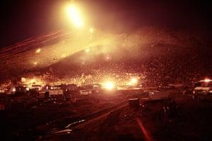 Vietnam War: Long exposure photographs of gunfire at night