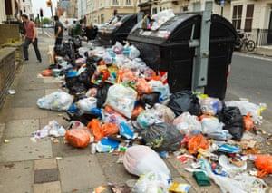 rubbish collection strike Brighton