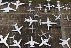20 Photos: An aerial view of the 50th Paris Air Show at Le Bourget airport