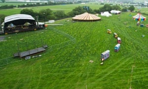 Final preparations take place at Worthy Farm