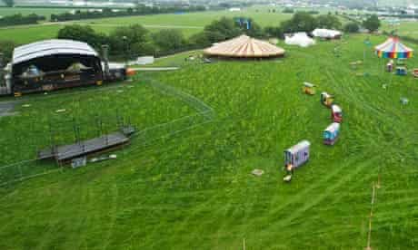 Final preparations take place at Worthy Farm