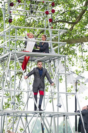 Limbless Knight: A scene from The Limbless Knight by Graeae Theatre Company
