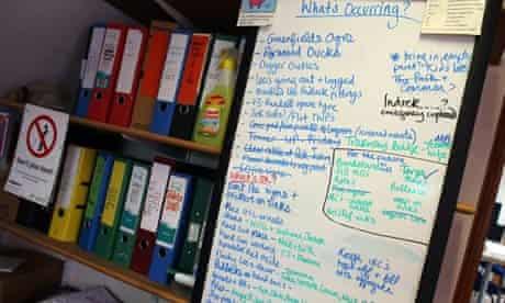Inside the Glastonbury Festival site office