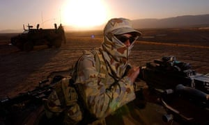 An Australian soldier in Afghanistan. A special forces member has been killed in a gun battle