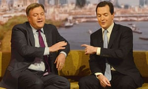Ed Balls and George Osborne on The Andrew Marr Show