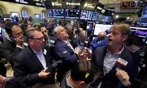 traders on  New York Stock Exchange