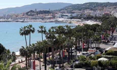 A general view shows the Croisette in Cannes, France