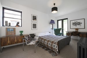 homes - edinburgh house: bedroom with mid-century furniture