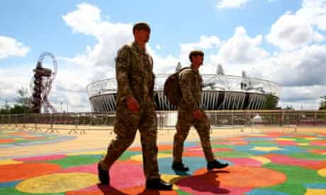 Soldiers at the Olympic Park following G4S recruitment failure