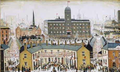 LS Lowry VE Day 1945