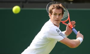 Andy Murray takes to Centre Court during his first match of this year's Wimbledon. Let the mania begin.