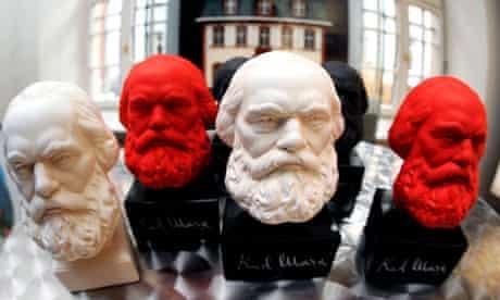 Germany - Karl Marx 125th obit - Busts of Karl Marx