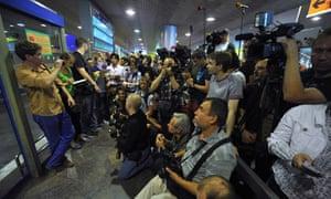 Sheremetyevo Airport journalists