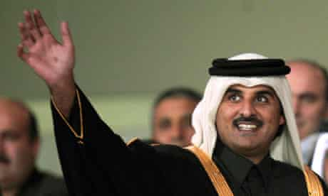 Qatar's Crown Prince Sheikh Tamim Bin Hamad al-Thani at the 12th Arab Games in Doha