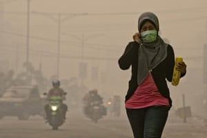 Indonesia Fires: Forest Fires Cause Smog in Dumai City Riau Province