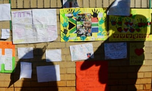 Messages of support at the entrance to the Medi-Clinic Heart Hospital in Pretoria.