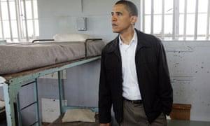 Barack Obama in Mandela's cell