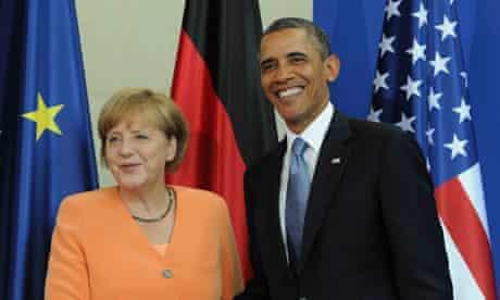 Angela Merkel and Barack Obama