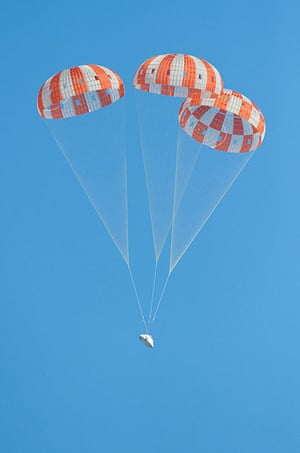 A Month in Space: Orion Parachute Drop Test