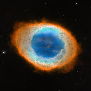 A Month in Space: dramatic shape and colour of the Ring Nebula