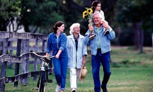 Three generations outdoors